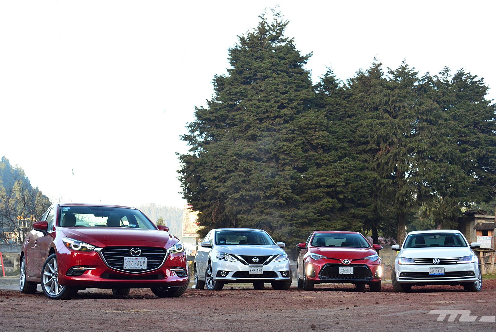 Foto de Comparativa: Mazda3 vs. Nissan Sentra vs. Toyota Corolla vs. Volkswagen Jetta (2/60)