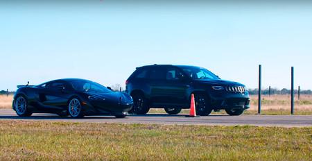 Jeep Grand Cherokee Trackhawk Hennessey vs Mclaren 600LT