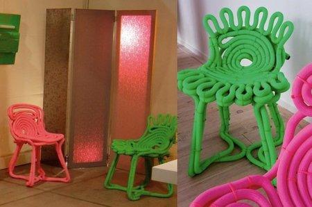 Recicladecoración: hacer una silla con una manguera