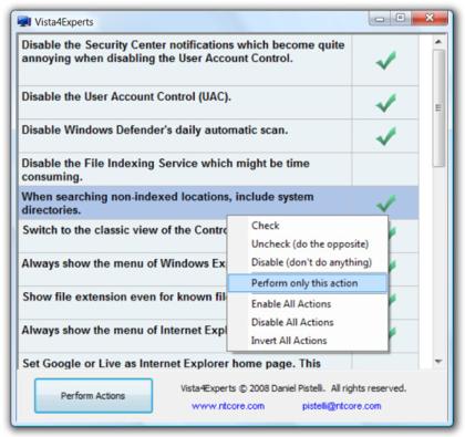 Vista4Experts, deshabilita con un click las funciones de seguridad más molestas de Vista