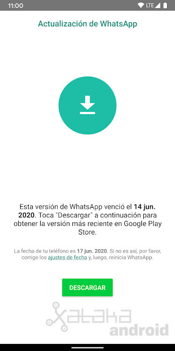 Whatsapp Caducado