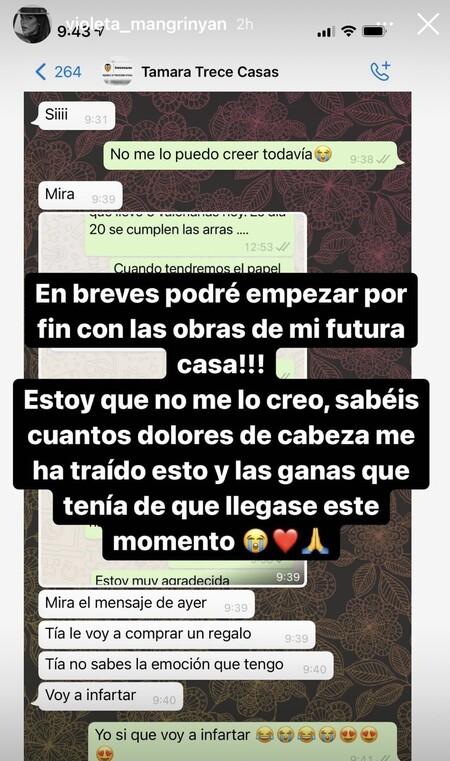 Violeta Mangriñán en Instagram