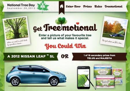 ¿Eres un amante de los árboles? Pues en Canadá puedes ganar un Nissan Leaf