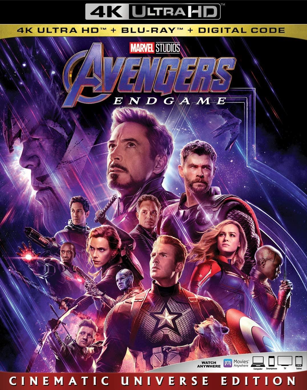 Avengers: Endgame Blu-ray 4K