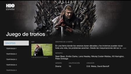 Análisis de HBO España para Apple TV de cuarta generación. App de la Semana