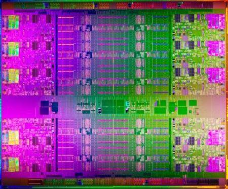 Intel Xeon E7 die