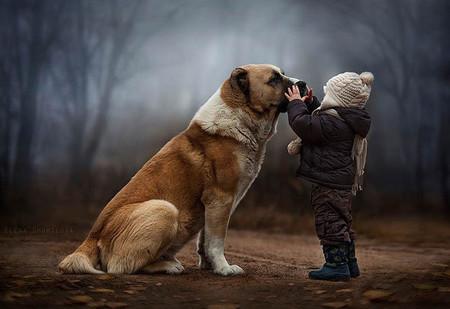 Elena Shumilova, la madre que está dando que hablar por las mágicas fotos de sus hijos con animales