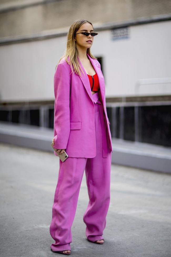 traje chaqueta street style