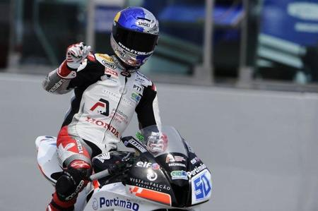 Laverty celebra una victoria