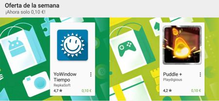 Oferta de la semana en Google Play: YoWindow Tiempo y Puddle+ rebajados a 0,10 euros