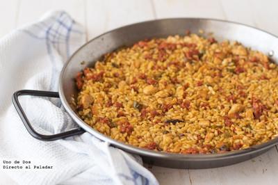 Receta de arroz meloso con pollo y chistorra