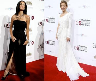 Demi Moore y Hilary Swank en el Festival de Cine de Medio Oriente