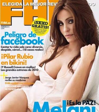 Melanie Olivares, sensual a la par que seductora, en FHM