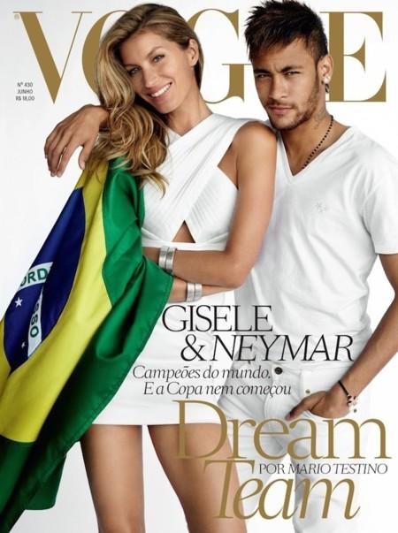 La extraña pareja: Gisele Bündchen y Neymar para Vogue Brazil