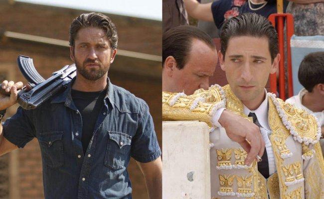 Imágenes de Gerard Butler en Machine Gun Preacher y Adrien Brody en Manolete