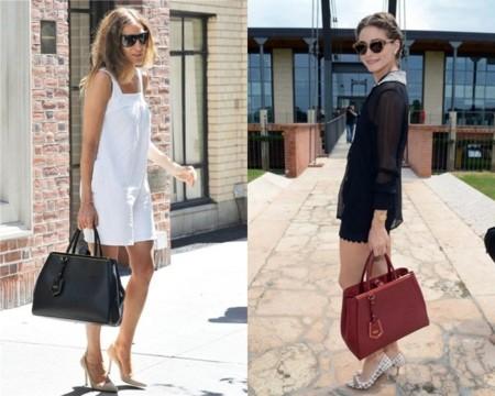Olivia Palermo y Sarah Jessica Parker con bolso personalizado de Fendi