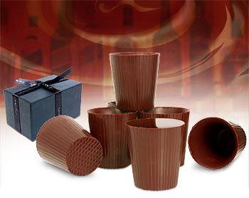Vasos de chocolate para shots