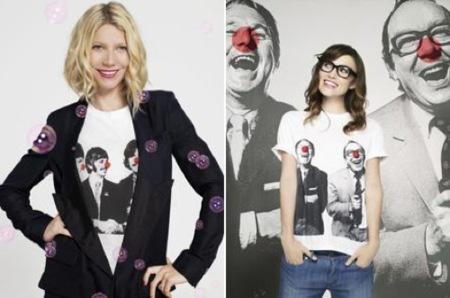 Camisetas solidarias de Stella McCartney con Keira Knightley y Gwyneth Paltrow
