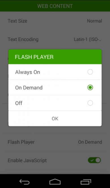 Flash en Android 4.4