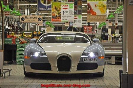 Bugatti Veyron Supermercado