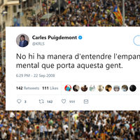 También hay un tuit del @KRLS Puigdemont pre-procés de independencia para cada situación de la vida