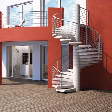 Siete ambientes con escaleras outdoor funcionales y con mucho estilo