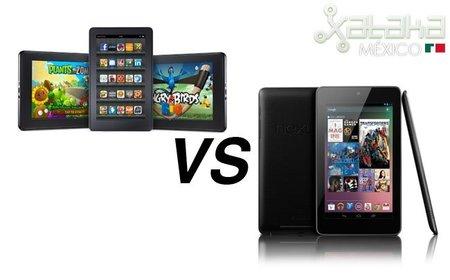 Nexus 7 y Kindle Fire, comparativa de las mejores dos pequeñas tablets