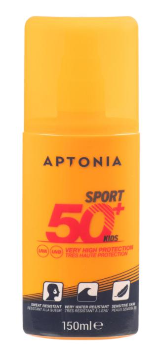 CREMA PARA EL SOL, SPORT EN SPRAY IP50+ 150 ML, APTONIA