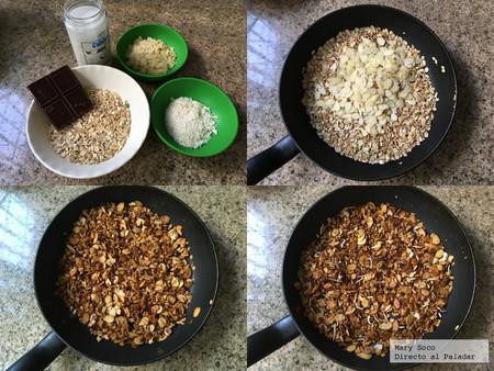 Granola Almendra Choco Pasos
