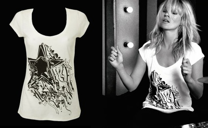 Kate Moss diseña una camiseta benéfica para Topshop