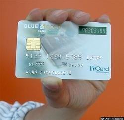 Tarjeta de crédito con contraseña cambiante