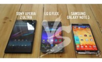 Comparativa de phablets Android: LG G Flex vs Galaxy Note 3 vs Xperia Z Ultra
