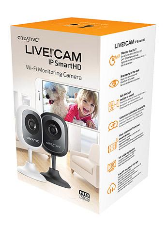 Creative Live Cam IP SmartHD, una cámara de vigilancia para el hogar