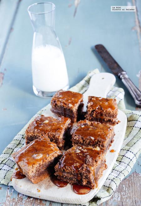 Brownie de chocolate y caramelo. Receta