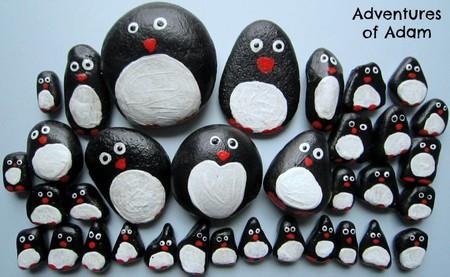 Manualidades Invierno Pinguinos Pisapapeles