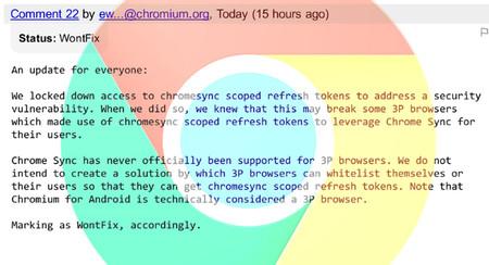 Solo Chrome podrá usar la sincronización de Chrome: Google cierra el acceso al resto de navegadores