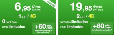 Amena simplifica su oferta de tarifas con el adiós de la tarifa de llamadas ilimitadas y tres gigas
