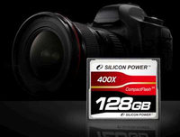 Silicon Power lanza la primera Compact Flash de 128GB y 400X