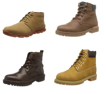 Chollos en tallas sueltas de botas Timberland, Levi's, Caterpillar o Pepe Jeans a la venta en Amazon