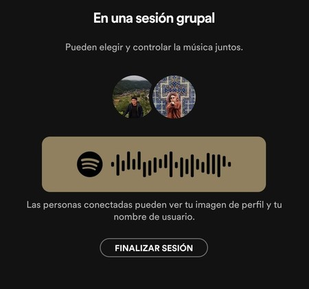 Spotify Sesion Grupal Android