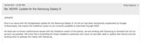 La actualización a Gingerbread de los Galaxy S detenida por Google
