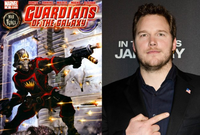 El cómic Guardianes de la Galaxia y Chris Pratt