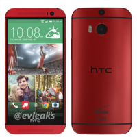 Así es el HTC One M8 en color rojo para, de momento, Verizon