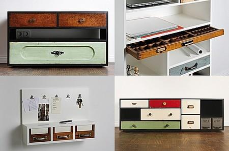 Schubladen reciclando viejos cajones - Muebles originales reciclados ...