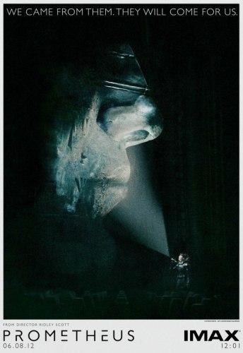 El cartel para IMAX de Prometheus