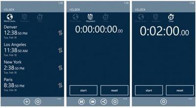 1:CLOCK, un kit de herramientas de horarios, relojes, y tiempos para Windows Phone 8
