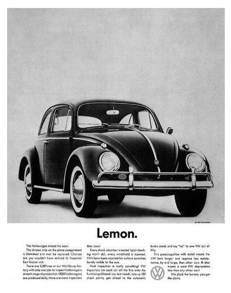 Cartel publicitario del VW Sedan