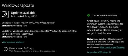 Windows 11 Aviso de compatibilidad