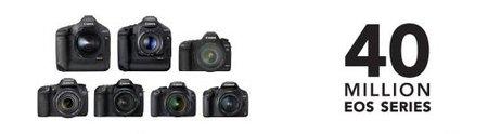 40 millones de cámaras Canon EOS