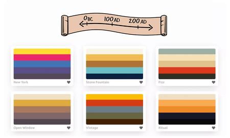 Esta web te permite viajar por la historia a través de su paleta de colores